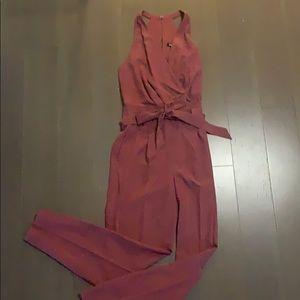 EXPRESS • jumpsuit NWT Size 4 mauve/pink
